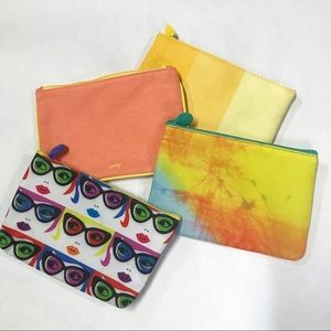 """Ipsy Lot of 4 Cosmetic Bags 5"""" x 7"""" Zipper Pouch"""